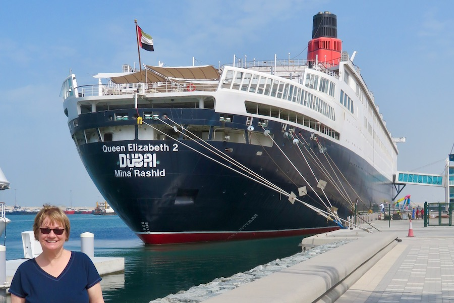 Stern view of the QE2