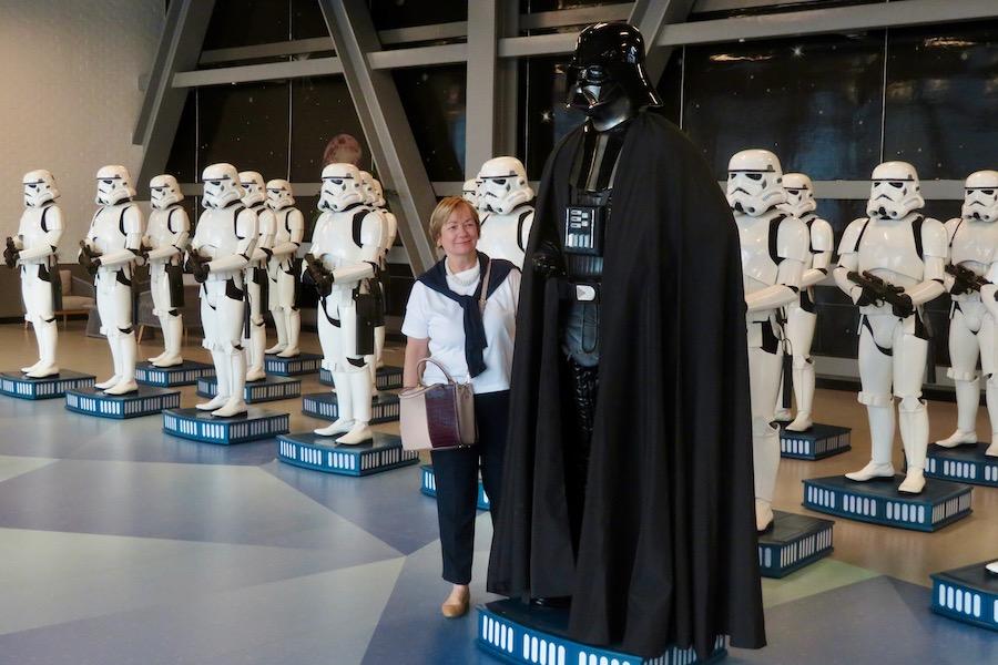 Sue with Darth Vader